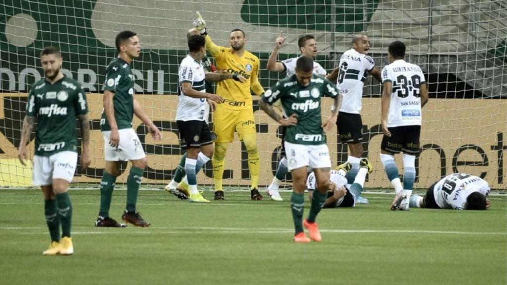 Jogo ao vivo - Coritiba x Palmeiras