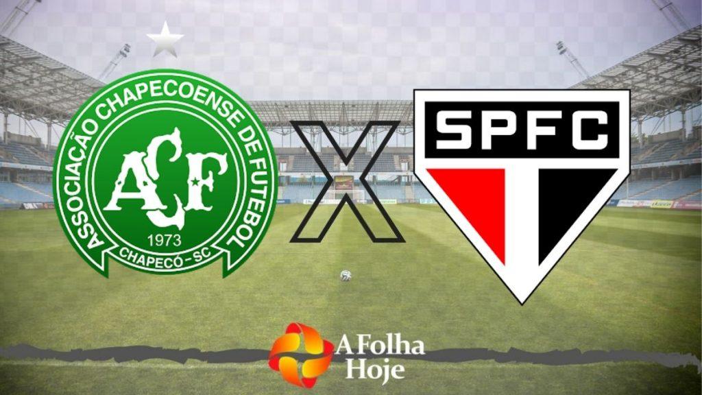 Onde assistir AO VIVO - Onde assistir ao duelo entre Chapecoense e São Paulo pela série A do Brasileirão. (Imagem: A folha hoje)