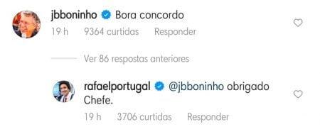 Boninho e Rafael Portugal